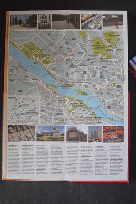 Un exemple d'une carte dépliée du Cartoville