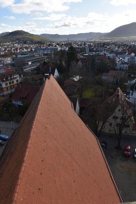 Über die ganze Länge des Kirchendachs lebt die Fledermauskolonie. Foto: NABU Metzingen / W. Hoyer