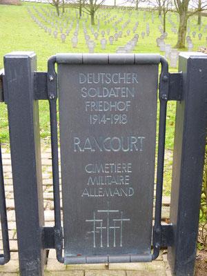 Cimetière militaire allemand de Rancourt