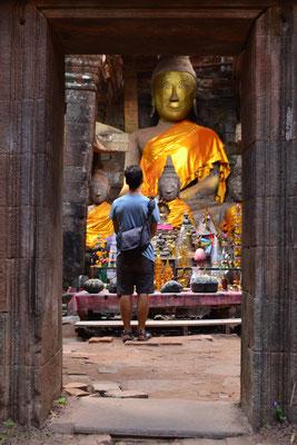 Beim Wat Phu Tempel