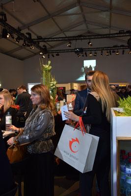 Bild: Anja Gockel im Zelt der Fashion Week Berlin