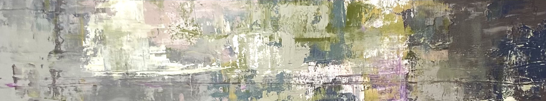 Acrylfarbe, Kreidefarbe und Ölpastellkreide auf Leinwand 30 x 150 cm