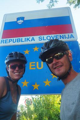 Grenze zu Slovenien - hier waren wir nicht mal 24h