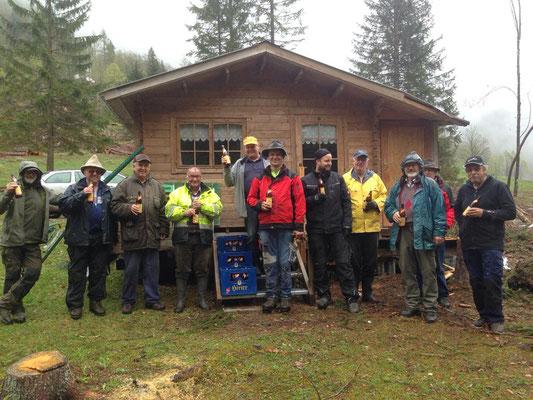 Wiederaufbau der Belegstelle Valentinalm nach Unwetterschäden