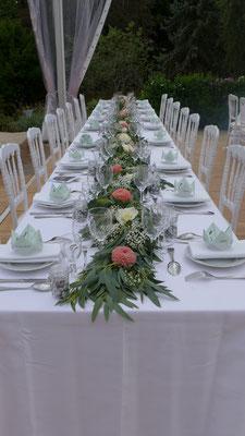 Chemin de table pour banquet 15 euros / mètre