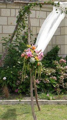 Cérémonie au jardin par le clos des roses cultures de fleurs biologiques