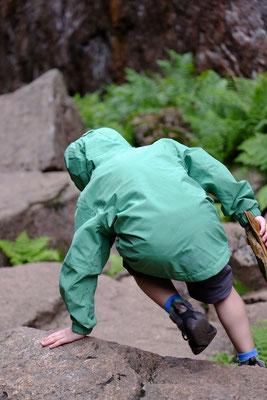 Kletterpartien gab es auf der Strecke einige