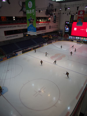 Ice hockey field Dubai Mall