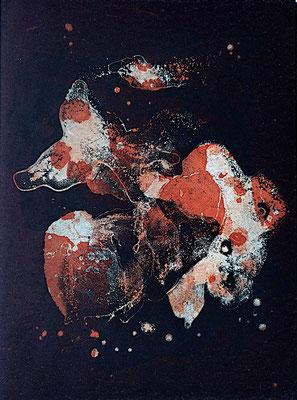 Kristin Finsterbusch, gemischtes Doppel 9, Aquatinta, 2019, 15 x 20 cm