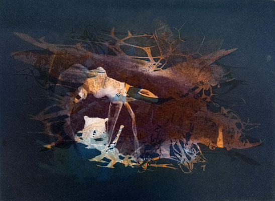 Kristin Finsterbusch, frinds 2, Fotopolymerdruck, 4 Platten, 15x20cm, 2021