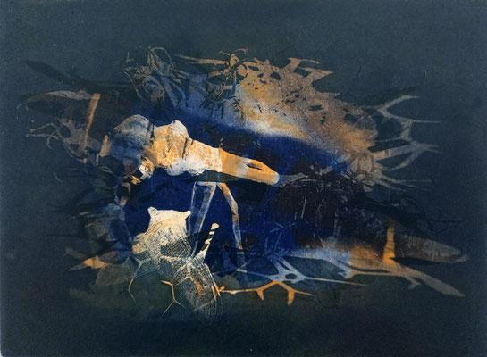 Kristin Finsterbusch, frinds 1, Fotopolymerdruck, 4 Platten, 15x20cm, 2021