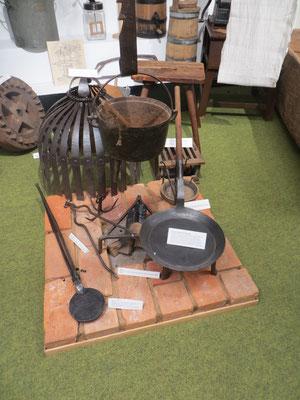 Feuerstelle im Richard-Brandt-Heimatmuseum