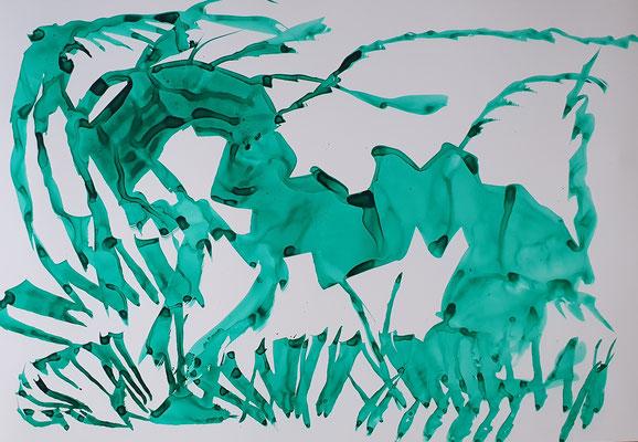 Insekt Tusche auf Papier
