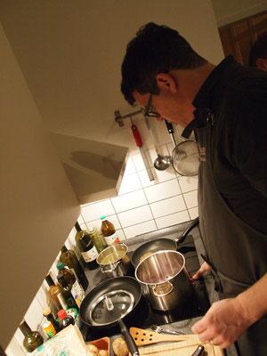 Massimo wird den ersten Gang zubereiten