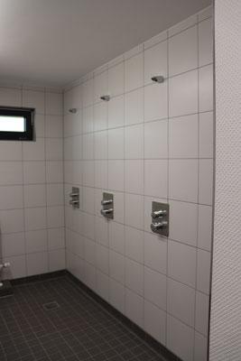 ...und die neuen Duschen.