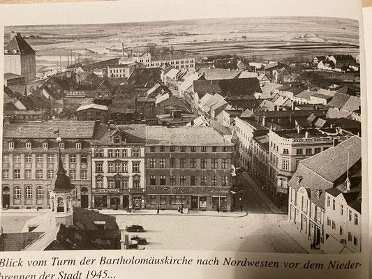"Demmin before the Russians set it on fire (Picture:Buske, Norbert ""Das Kriegsende in Demmin 1945)"