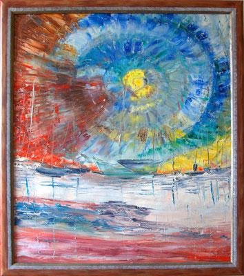 """""""Yachthaven"""" (70×80cm) 2011"""