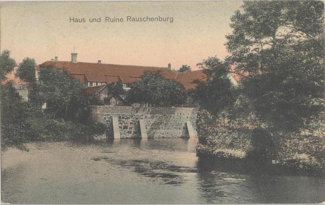 Postkarte von der Ruine der Rauschenburg ca.1910
