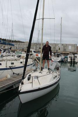 Tony bereitet Atlantikquerung vor (Bootslänge 6m)