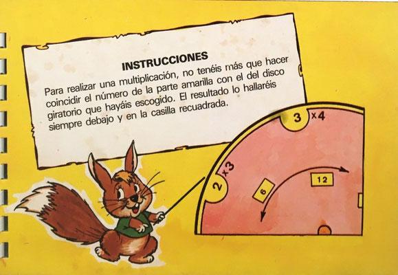 Instrucciones de uso para el Disco Calculador del conjunto ¡VAMOS A MULTIPLICAR,!, en la última página del Cuaderno (12 páginas)