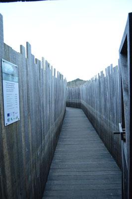 couloir d'accès à l'observatoire principal