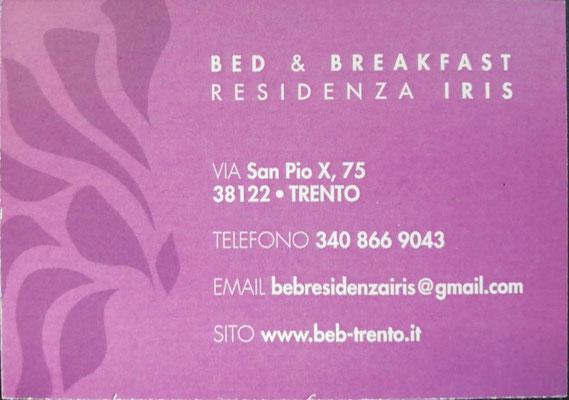 B&B Residenza Iris a Trento | Dove dormire a Trento