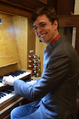 Pierre Offert (organiste suppléant de la Cathédrale de Saint-Denis), lors de son concert du 27 Avril 2019
