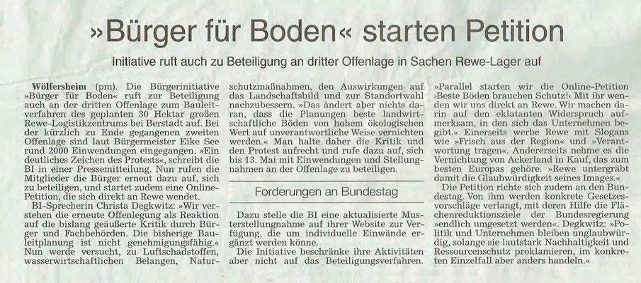 Wetterauer Zeitung, 27. April 2019