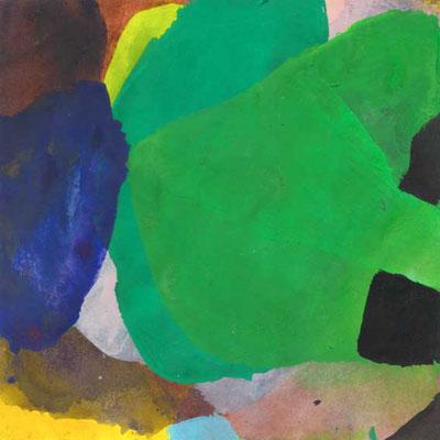 ohne Titel, Mischtechnik auf Papier, 15cm x 15cm, 2008