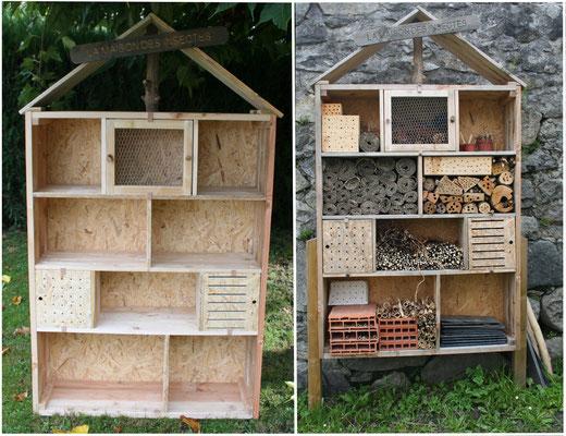 Maison des insectes en bois de palette