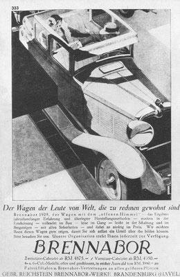 Advertentie Brennabor van B. Reuters uit 1929.