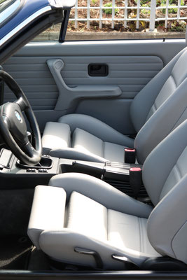 BMW 3er (E30) Cabrio - Vordersitze neu bezogen in Echtleder