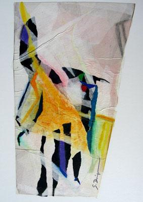 Danse (collage et pastel, 45 x 65 cm, 2010)