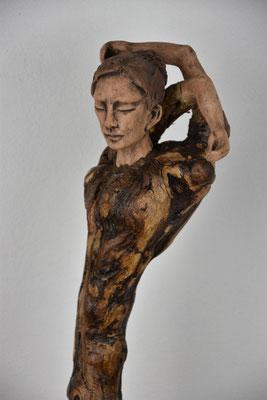 Tree-People, Keramik-Rebenholz, ca. 90 cm