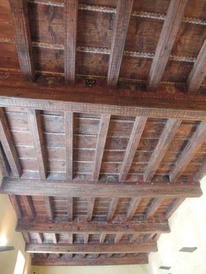 Un des trois plafonds peints de la maison de la famille Pioolenc à Pont-Saint-Esprit