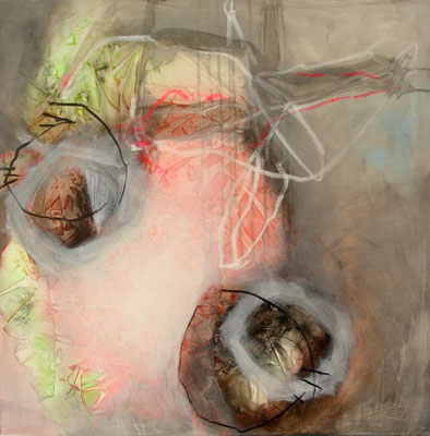 Waage,Acryl,Pigmente auf Lwd., 80 x 80, 2009