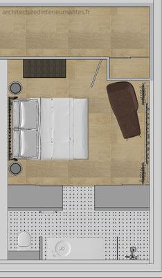 Rénovation chambre suite parentale