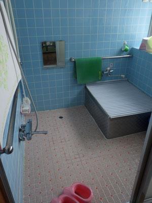 昔ながらのタイル張りのお風呂。寒そう。