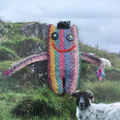 Umarmemonster rosa-bunt von A sheep called Harris