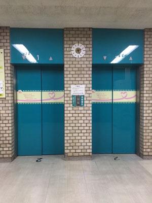 松戸市役所(思いやりエレベーター)デザイン・施工請負