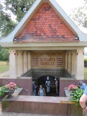der Löwenbrunnen, einer der Schwalheimer Sauerbrunnen
