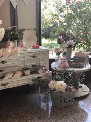 Detalle mesa dulce decorada Pink Hipo, foto II  | Dulce Dorotea
