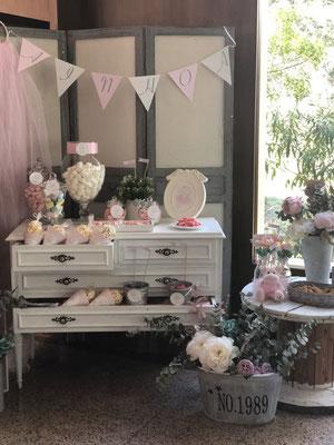 Mesa dulce decorada Pink Hipo, foto II  | Dulce Dorotea