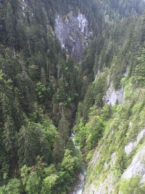 Schlucht im Aufstieg zum Col des Mosses
