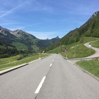 on the road in den Freiburger Alpen