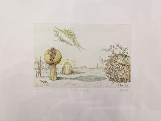 """Paul Struck, """"Landschaft in Erwartung"""", 20 x 30 cm, Lithographie auf Büttenpapier, nummeriert, limitiert und handsigniert, 99,-€"""