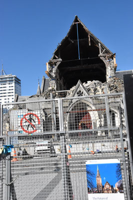 Kirche Christchurch mit Schäden vom Erdbeben