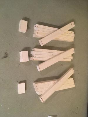 Vorbereitete Holzlatten für Konstruktion