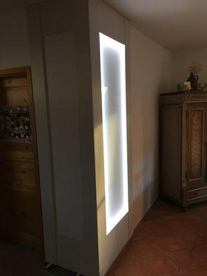 Wandverkleidung LED Whiteboard individuell Massanfertigung