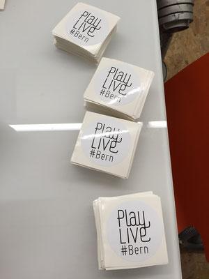 Aufkleber / Sticker für Playlive Bern